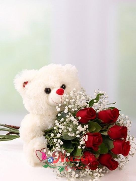 Ayıcık ve Kırmızı Güller