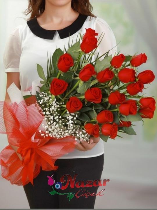 Aşksın Sen 21 Kırmızı Gül