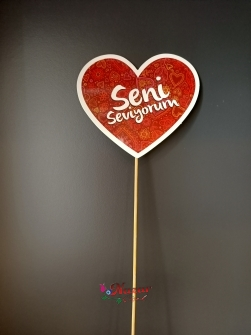 Kalp çubuk seni seviyorum
