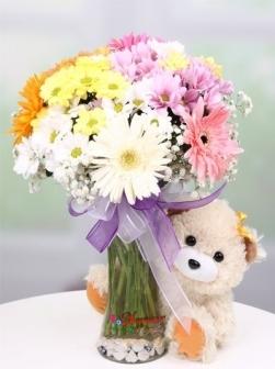 Kır Çiçekleri ve Ayıcık