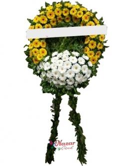 Turuncu Beyaz Cenaze Çelengi