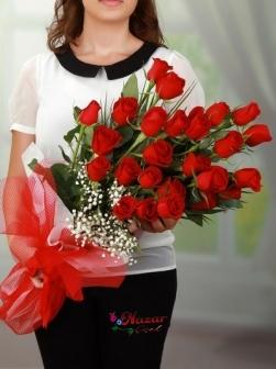 Tutkulu Aşk 25 Kırmızı Gül